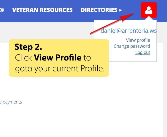 Step 2 - Click View Profile
